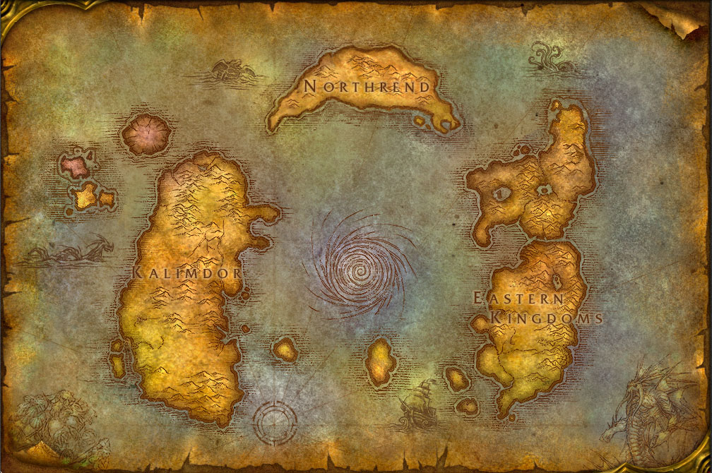 world of warcraft map kalimdor. ORIGINAL WORLD OF WARCRAFT MAP